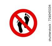 no barefoot sign | Shutterstock .eps vector #726045334
