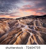 Heavily Eroded Ridges At...