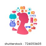 Pink Color Female Silhouette...