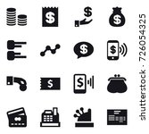 16 vector icon set   coin stack ... | Shutterstock .eps vector #726054325