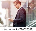 portrait of handsome... | Shutterstock . vector #726058987