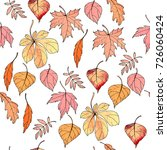 seamless pattern with autumn... | Shutterstock .eps vector #726060424