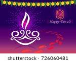 the gradience of diwali... | Shutterstock .eps vector #726060481