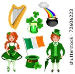 alcohol,ale,banner,beer,cartoon,cauldron,celebrate,clothes,clover,costume,day,drink,flag,foliage,folk