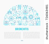 bronchitis concept with thin... | Shutterstock .eps vector #726063481