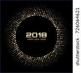 vector  happy new year 2018... | Shutterstock .eps vector #726064621