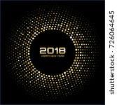 vector  happy new year 2018... | Shutterstock .eps vector #726064645