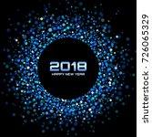 vector  happy new year 2018... | Shutterstock .eps vector #726065329
