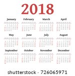 vector simple 2018 year... | Shutterstock .eps vector #726065971