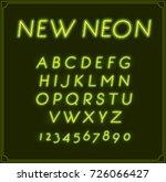 neon italic font type alphabet. ...   Shutterstock . vector #726066427