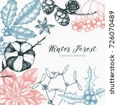 vector frame with hand drawn... | Shutterstock .eps vector #726070489
