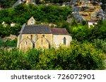 medieval church of la roque... | Shutterstock . vector #726072901