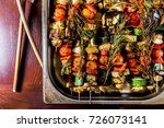 grilled skewers | Shutterstock . vector #726073141