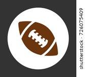 american football ball ... | Shutterstock .eps vector #726075409