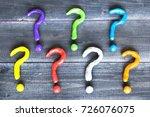 colorful plasticine question...   Shutterstock . vector #726076075