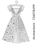 hand drawn dress. sketch for... | Shutterstock .eps vector #726078199