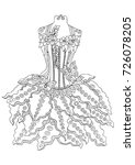 hand drawn dress. sketch for... | Shutterstock .eps vector #726078205
