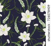 seamless pattern with eucharis... | Shutterstock .eps vector #726078409