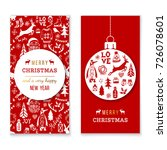 christmas and new year banners... | Shutterstock .eps vector #726078601
