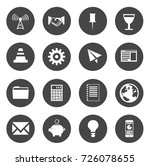 business icons | Shutterstock .eps vector #726078655