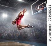 basketball player on big... | Shutterstock . vector #726080281