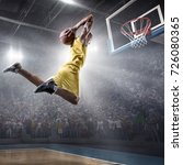 basketball player on big... | Shutterstock . vector #726080365