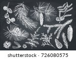 vector collection of hand drawn ... | Shutterstock .eps vector #726080575