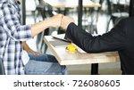 business partners giving fist... | Shutterstock . vector #726080605