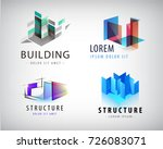 vector set of abstract building ... | Shutterstock .eps vector #726083071