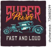 t shirt or poster design with... | Shutterstock . vector #726083299