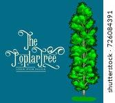 cartoon isolated poplar summer... | Shutterstock . vector #726084391