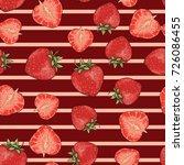 vector seamless strawberry... | Shutterstock .eps vector #726086455