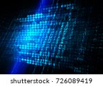 binary circuit board future... | Shutterstock . vector #726089419