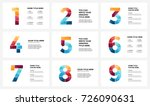 vector alphabet infographic ... | Shutterstock .eps vector #726090631