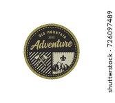 traveling  outdoor badge. big... | Shutterstock .eps vector #726097489