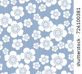 seamless  blue abstract floral  ... | Shutterstock .eps vector #726100381