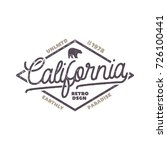 summer california label with... | Shutterstock . vector #726100441