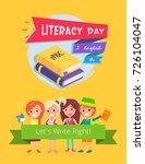literacy day  i love english ... | Shutterstock .eps vector #726104047