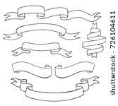 set of vintage ribbons... | Shutterstock .eps vector #726104611