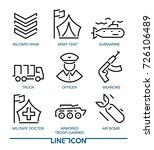 set of thin line icons for... | Shutterstock .eps vector #726106489