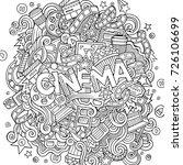 cartoon cute doodles hand drawn ... | Shutterstock .eps vector #726106699