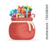 bag full gifts christmas new... | Shutterstock .eps vector #726108265