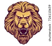 angry wild lion head for art... | Shutterstock .eps vector #726110659