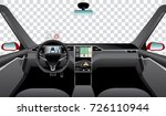 interior of self driving car... | Shutterstock .eps vector #726110944