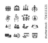 business and person icons set... | Shutterstock .eps vector #726111121