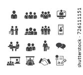 business and person icons set... | Shutterstock .eps vector #726111151