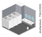 isometric 3d isolated concept... | Shutterstock .eps vector #726115201