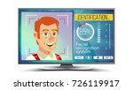 face recognition and... | Shutterstock .eps vector #726119917