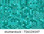 seamless teal hexagons pattern...
