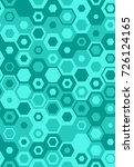 seamless teal hexagons pattern...